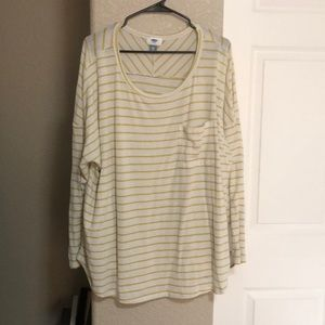 Old Navy yellow striped long sleeve